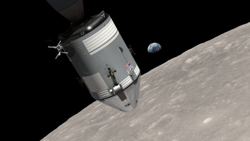 Apollo 8 Sapcecraft Floating in Space