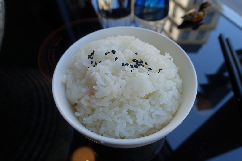 Boiled rice for Chicken Curry