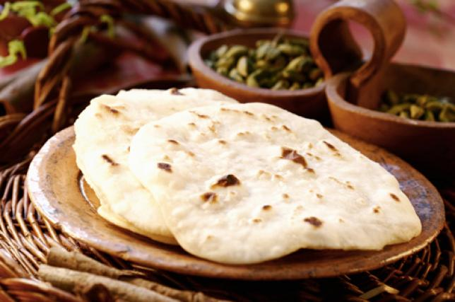 Chapati in a plate