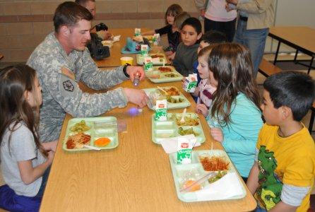 Childern eating healthy lunch meal in break time