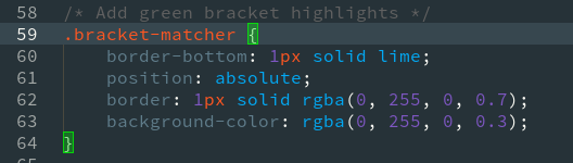 Highlighted Bracket Pair in Pycharm