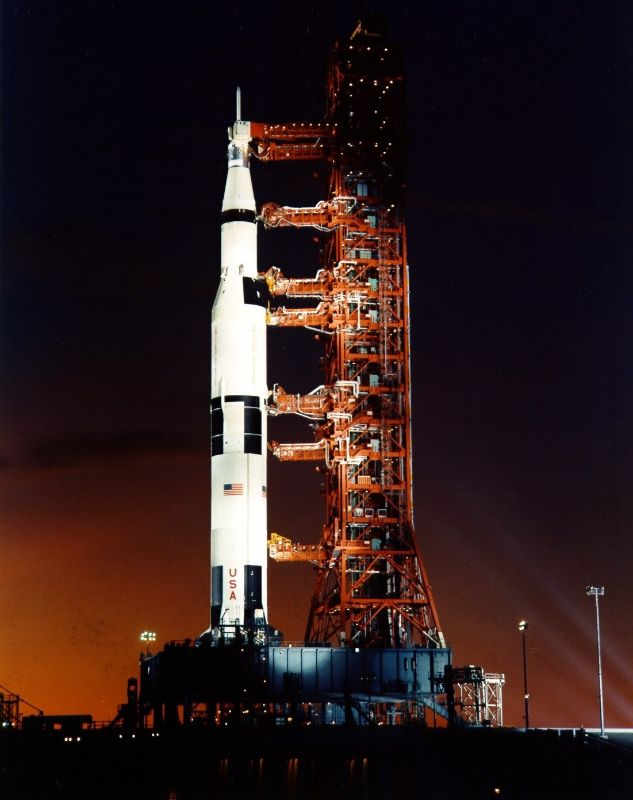 Launch View of Apollo 8 Saturn V Rocket