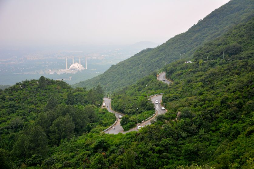Margalla Hills and the Shah Faisal  is one of the places to visit in Islamabad | Blurbgeek