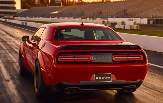Rear view of Demon 2018 Challenger