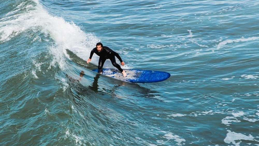 Surfing is a famous and healthy sport