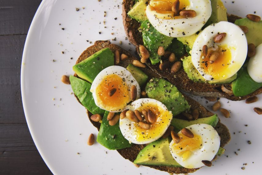 Pastry and boiled egg on plate - Stress Relief Activities | Blurbgeek