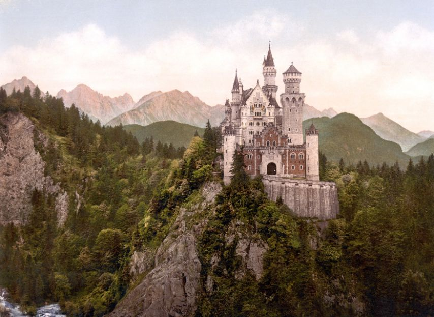 A Refreshing view of Neuschwanstein Castle - Germany