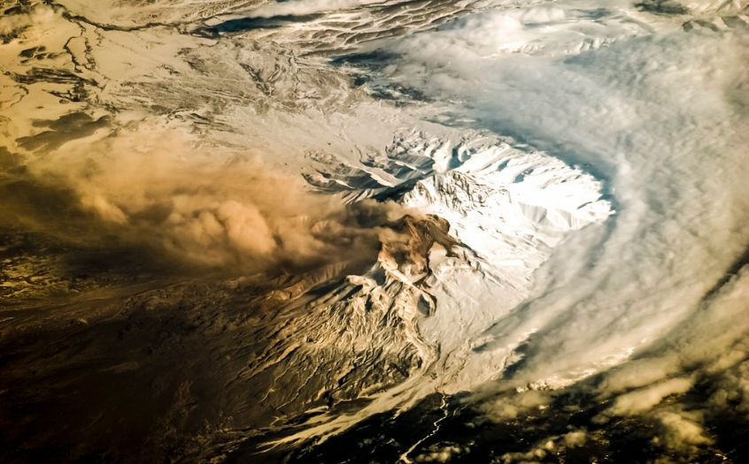 A plume at Shiveluch Volcano - Kamchatka Peninsula -Russia