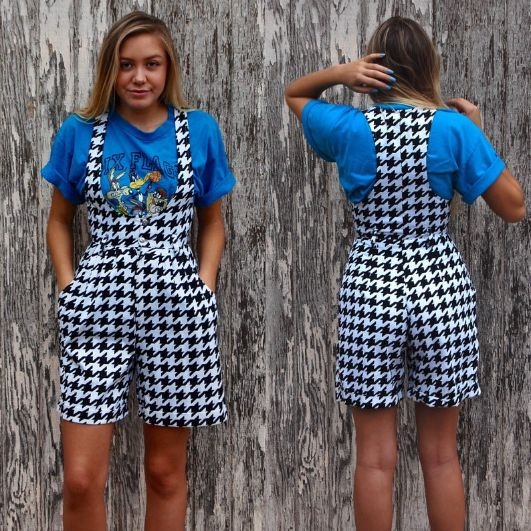 Checked Jump-Suit | Out-landish Fashion