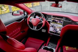 Inner View of Tesla Driverless Car