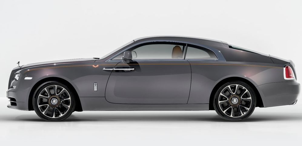 Side View of The Rolls-Royce Wraith Luminary- The Luxury Car of 2019