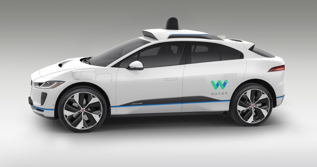 Side View of Waymo Self-Driving Car