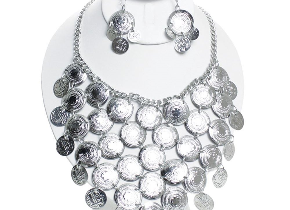 Silver Breast Plate Neck-lace