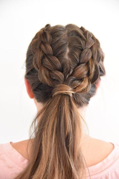 Bangin Braid Hairstyle At Home
