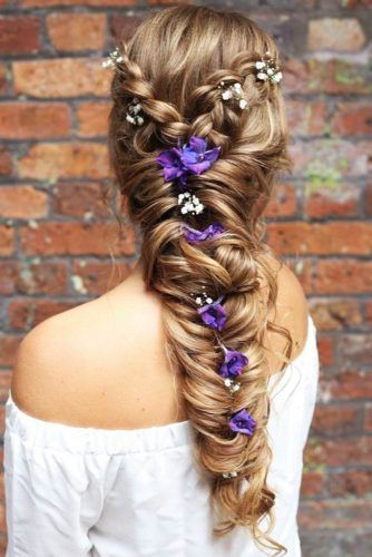 Flower Braid For Long Hairs